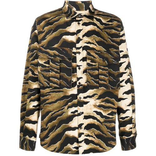 DSquared² Hemd mit Tiger-Print