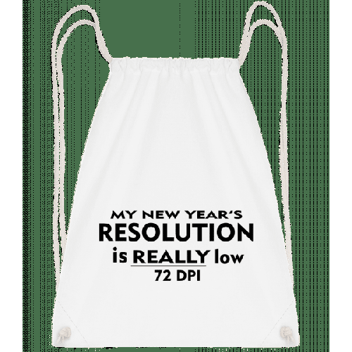 New Years Resolution - Turnbeutel