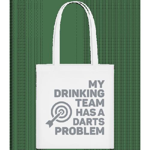 Darts und Trinken - Stoffbeutel