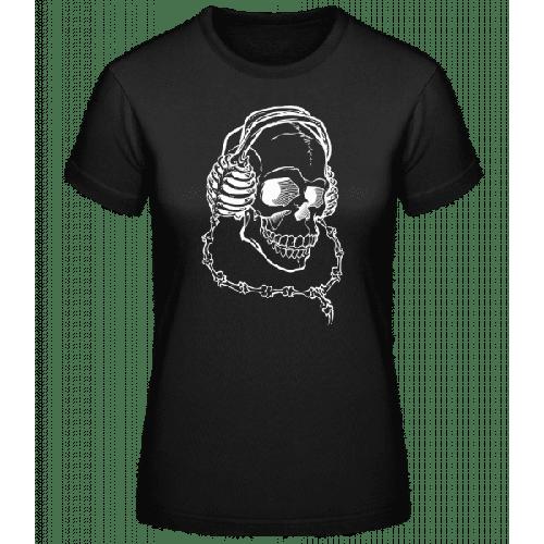 Totenkopf Mit Kopfhörern - Basic T-Shirt