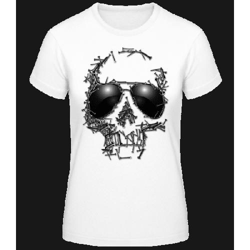 Sonnenbrille Totenkopf - Frauen Basic T-Shirt