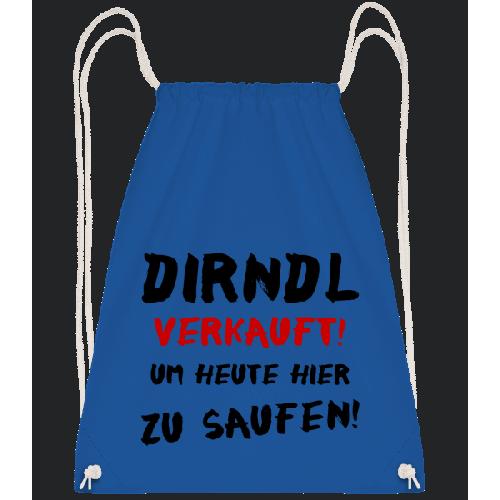 Dirndl Verkauft Zum Saufen - Turnbeutel