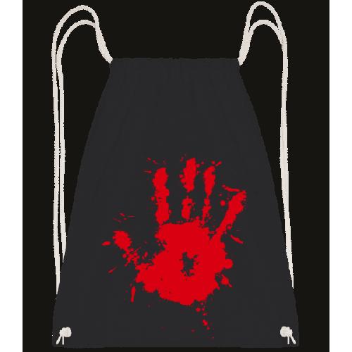 Blutiger Handabdruck - Turnbeutel
