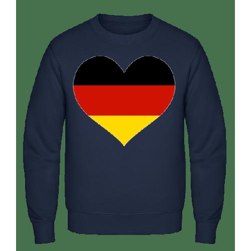 Deutschland Fahne Herz - Männer Pullover
