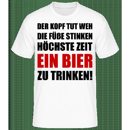 Kopf Tut Weh Bier Trinken - Männer Basic T-Shirt