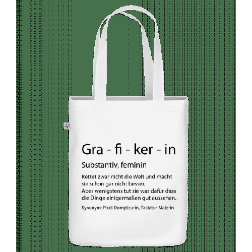 Grafikerin Quatsch Duden - Bio Tasche