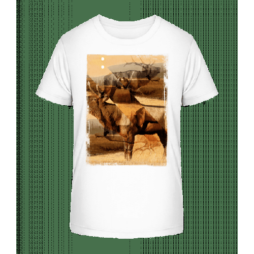 Hirsch Kreativ - Kinder Premium Bio T-Shirt