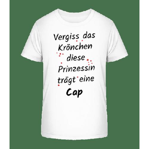Prinzessin Trägt Eine Cap - Kinder Premium Bio T-Shirt