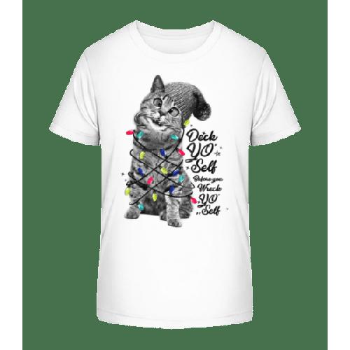 Katze Weihnachten - Kinder Premium Bio T-Shirt