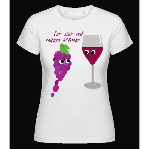 Wein Liebe Reifere Männer - Shirtinator Frauen T-Shirt