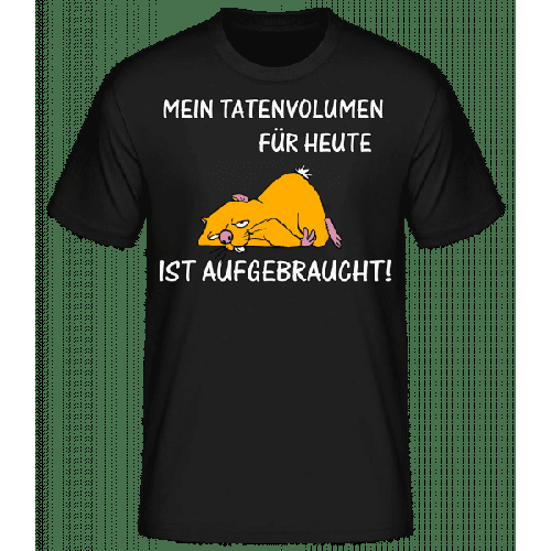 Tatenvolumen Aufgebraucht - Männer Basic T-Shirt