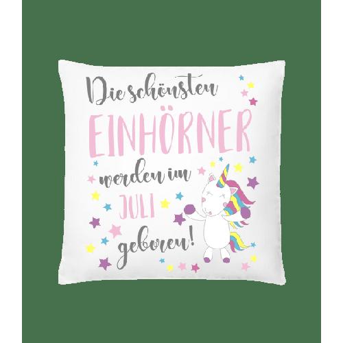 Einhorn Geboren In Juli - Kissen