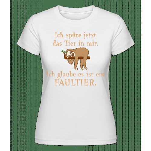 Das Tier In Mir Ist Ein Faultier - Shirtinator Frauen T-Shirt