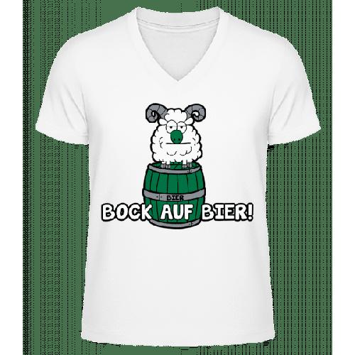 Bock Auf Bier - Männer Bio T-Shirt V-Ausschnitt