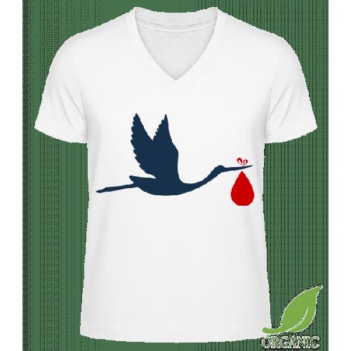 Storch Bringt Baby - Männer Bio V-Neck T-Shirt