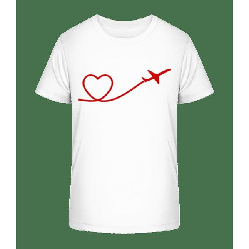 Herz Flieger - Kinder Premium Bio T-Shirt