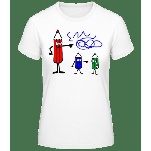 Buntstifte Blau Ist Schuld - Basic T-Shirt