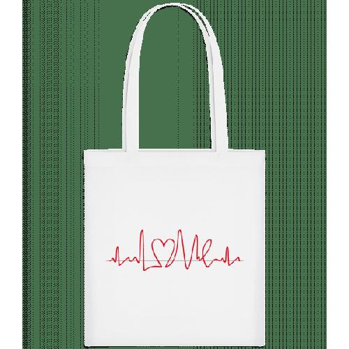 Herzfrequenz - Stoffbeutel