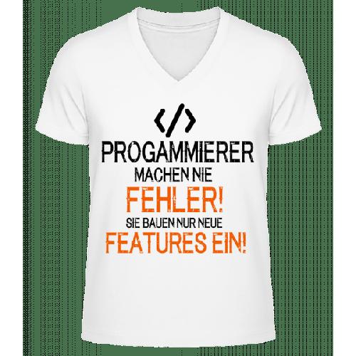 Programmierer Bauen Features - Männer Bio T-Shirt V-Ausschnitt