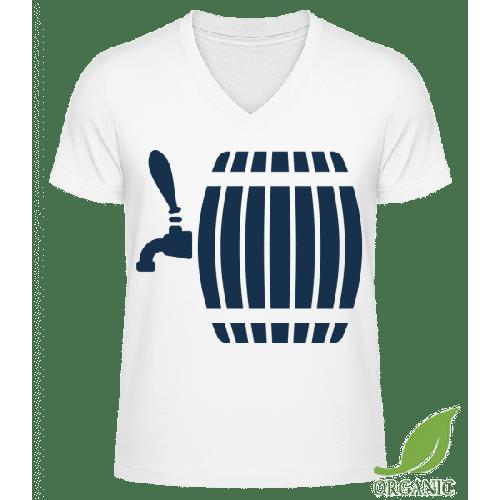 Bierfass - Männer Bio V-Neck T-Shirt