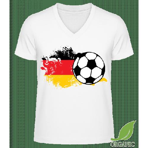 Deutschland Fahne Fußball - Männer Bio V-Neck T-Shirt