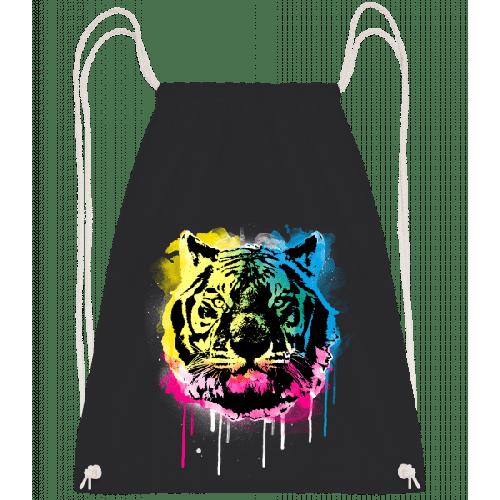 Bunter Tiger - Turnbeutel