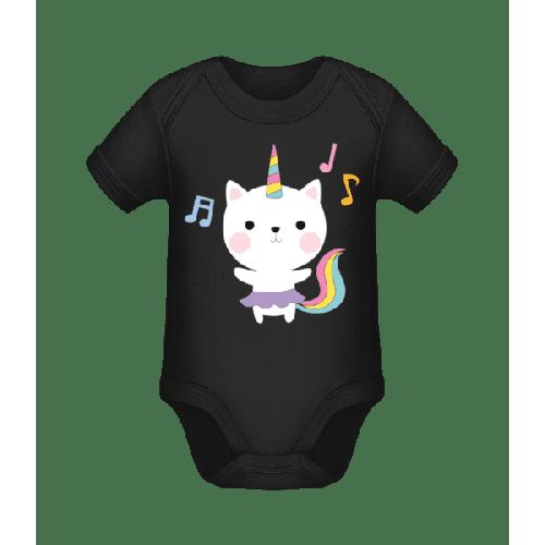 Tanzende Einhorn Katze - Baby Bio Strampler