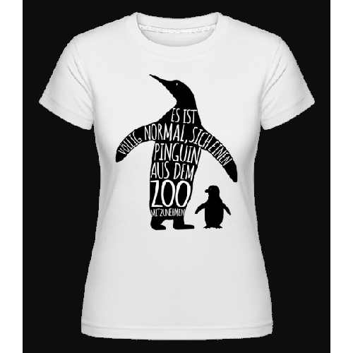 Pinguin Zum Mitnehmen - Shirtinator Frauen T-Shirt