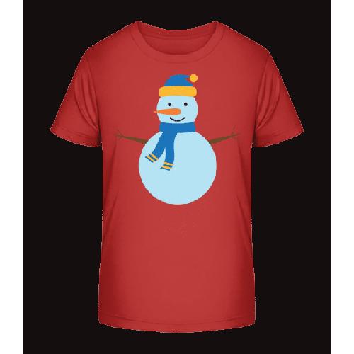 Schneemann mit Mütze - Kinder Premium Bio T-Shirt