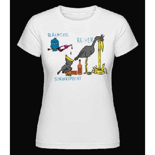 Blaumeise Reiher Schluckspecht - Shirtinator Frauen T-Shirt