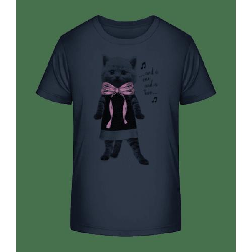 Tanzende Katze - Kinder Premium Bio T-Shirt