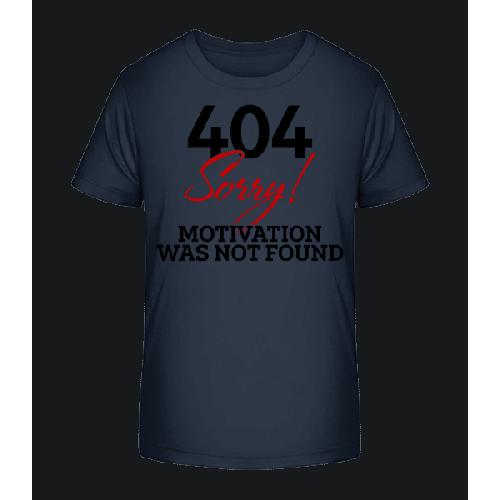 404 Motivation Not Found - Kinder Premium Bio T-Shirt