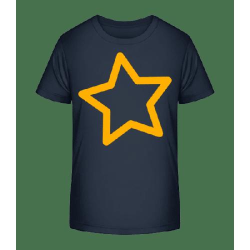 Einfacher Stern - Kinder Premium Bio T-Shirt