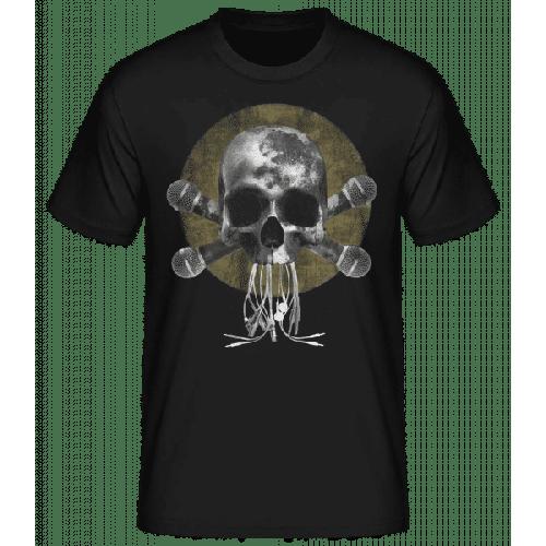 Crâne Avec Microphone - Basic T-Shirt