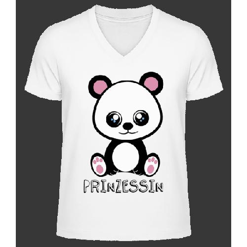 Bärchen Prinzessin - Männer Bio T-Shirt V-Ausschnitt