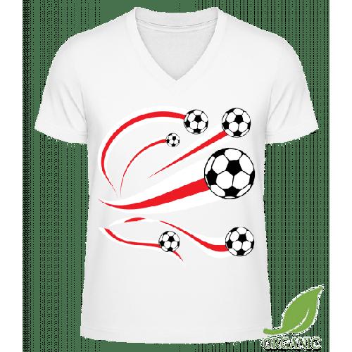 England Fahnen Fußball - Männer Bio V-Neck T-Shirt