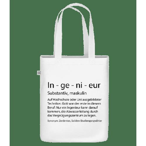 Ingenieur Quatsch Duden - Bio Tasche