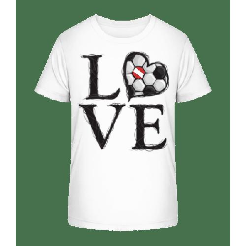 Fußball Liebe Österreich - Kinder Premium Bio T-Shirt