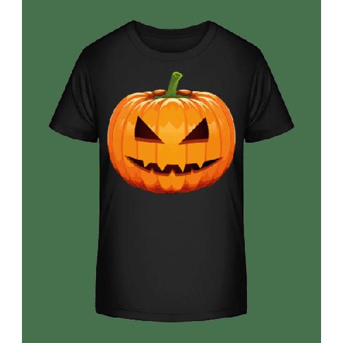 Grinsender Kürbis - Kinder Premium Bio T-Shirt