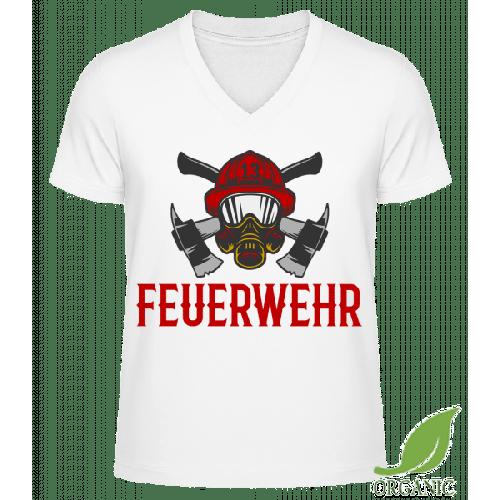 Feuerwehr Helm - Männer Bio V-Neck T-Shirt