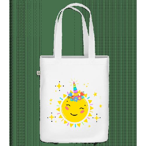 Fröhliche Sonne - Bio Tasche