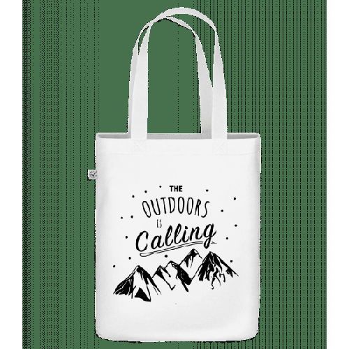 The Outdoors Is Calling - Bio Tasche