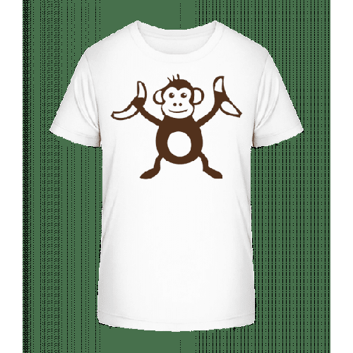 Affe Mit Bananen - Kinder Premium Bio T-Shirt