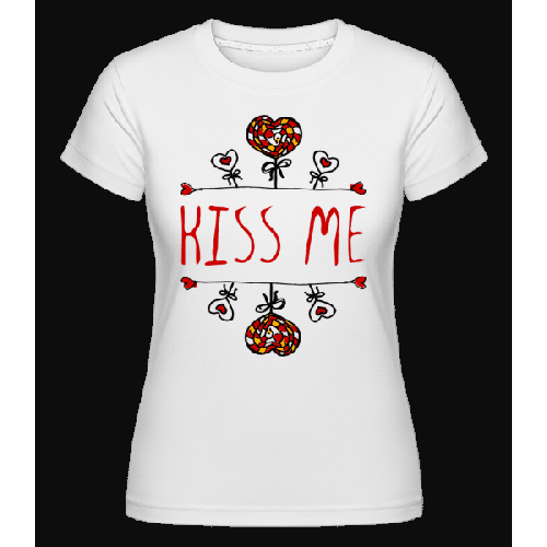 Kiss Me Logo Red - Shirtinator Frauen T-Shirt