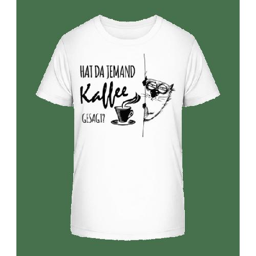 Kaffee Katze - Kinder Premium Bio T-Shirt