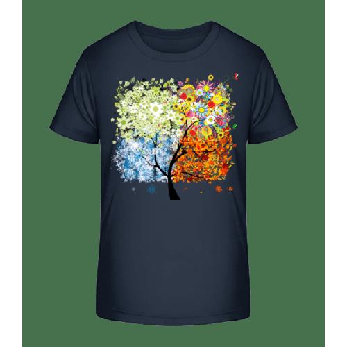 Vier Jahreszeiten Baum - Kinder Premium Bio T-Shirt