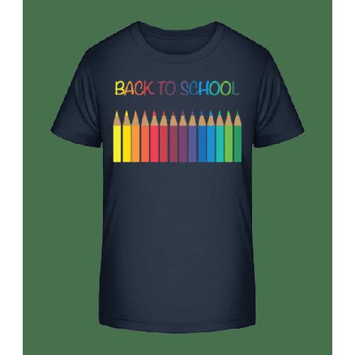 Back To School - Crayons - Kinder Premium Bio T-Shirt