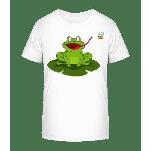 Frosch Fängt Insekt - Kinder Premium Bio T-Shirt