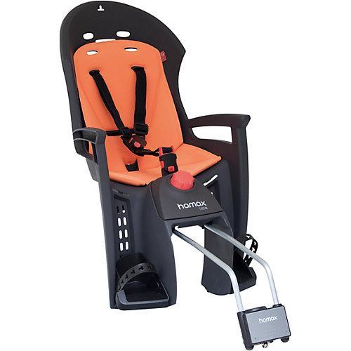 Fahrradsitz SIESTA mit abschließbarer Halterung grau/orange