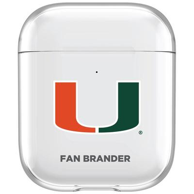Miami Hurricanes Clear Air Pods Case